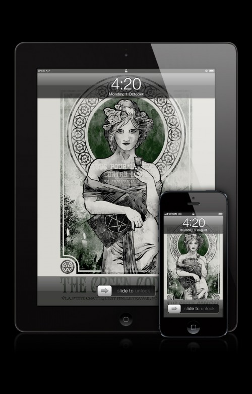 Absinthe Wallpaper inspired by Aleister Crowley - The Affair