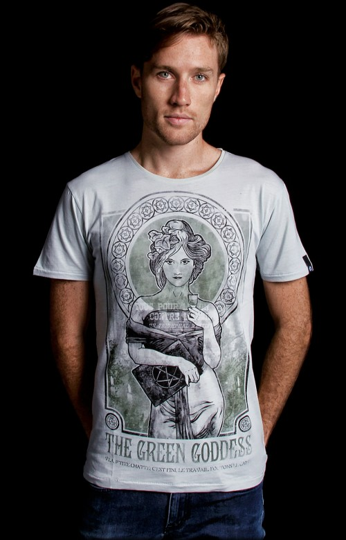 Absinthe T shirt inspired by Aleister Crowley - The Affair